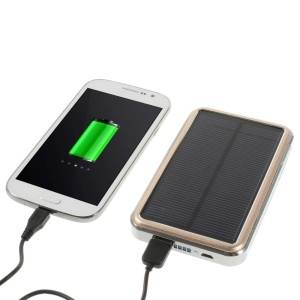 16800mAh Solar Panel Power Bank for iPhone iPad Samsung Sony LG HTC - Gold