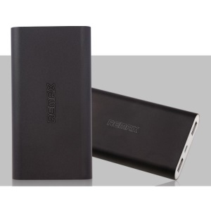 Black Remax Vanguard Series 10000mAh Aluminum Power Bank for iPhone iPad Samsung HTC Cellphones Tablets