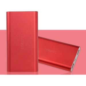 Red Remax Vanguard Series 10000mAh Aluminum Power Bank for iPhone iPad Samsung HTC Cellphones Tablets