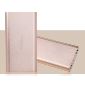 Gold Remax Vanguard Series 10000mAh Aluminum Power Bank for iPhone iPad Samsung HTC Cellphones Tablets