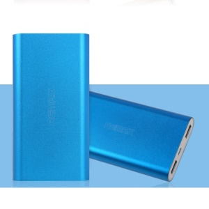 Blue Remax Vanguard Series 10000mAh Aluminum Power Bank for iPhone iPad Samsung HTC Cellphones Tablets