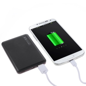 4800mAh Leyou LY-310 Ultra-thin Power Bank Charger for iPhone Samsung Sony HTC - Black