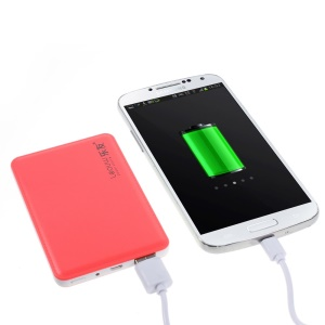 4800mAh Leyou LY-310 Ultra-thin Power Bank Backup Battery for iPhone Samsung Sony HTC - Watermelon Red