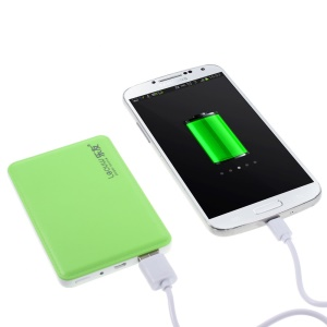 4800mAh Leyou LY-310 Ultra-thin Power Bank Battery for iPhone Samsung Sony HTC - Green