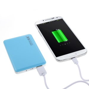 4800mAh Leyou LY-310 Ultra-thin Power Bank for iPhone Samsung Sony HTC - Blue