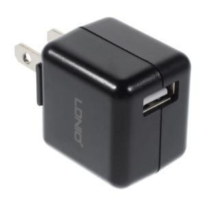 Black LDNIO DL-AC100 1A US Plug Wall Charger Adapter for iPhone Samsung HTC etc