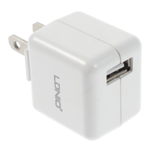 White LDNIO DL-AC100 1A US Plug Wall Charger Adapter for iPhone Samsung HTC etc