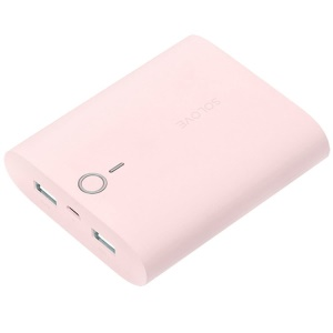 Pink Solove Dessert 10000mAh Power Bank for iPhone iPad Samsung Sony HTC with 2 Outputs