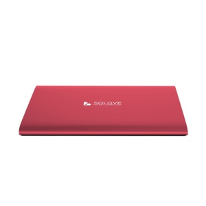 Red Solove 20000mAh Dual 2.1A Outputs Power Bank for iPhone iPad Sony HTC Samsung Phones & Tablets