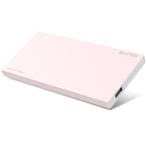 Pink Solove 8000mAh 2.1A External Battery for iPhone iPad Sony Samsung Phones & Tablets