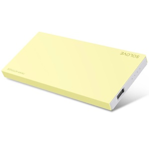 Yellow Solove 8000mAh 2.1A External Battery Charger for iPhone iPad Sony Samsung Phones & Tablets