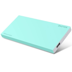 Cyan Solove 8000mAh 2.1A External Battery Charger for iPhone iPad Sony Samsung Phones & Tablets