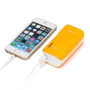 Pisen 5000mAh Color-Power Box External Battery with US Plug & 2 Outputs (Intelligent Detection) - Orange