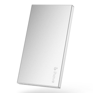 Silver IHAVE BOSS 5000mAh External Battery Charger for iPad iPhone iPod Phones Tablets
