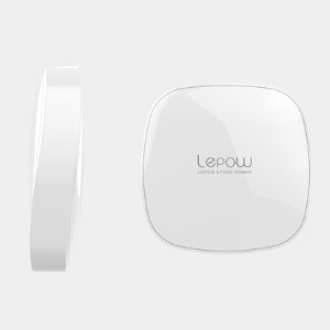 Lepow Stone 6000mAh Dual Outputs External Battery for iPhone Sony Samsung etc - White