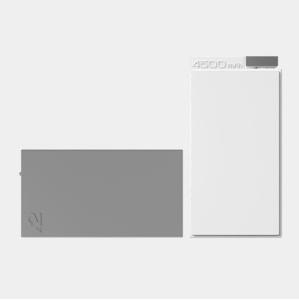 White Lepow ADD 4500mAh Power Bank + Grey 4500mAh Supplementary Power Pack