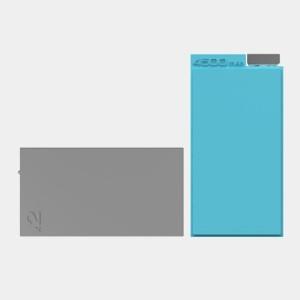 Blue Lepow ADD 4500mAh Power Bank + Grey 4500mAh Supplementary Power Pack