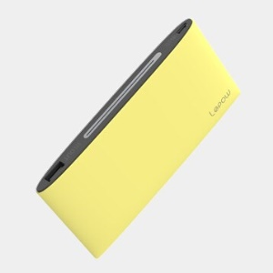 Lepow Poki 10000mAh 2.1A Power Bank for iPhone iPad Sony Samsung etc - Yellow