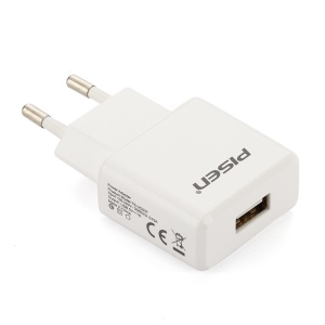 Pisen I Charger II 1A Power Adapter for iPhone iPad mini Samsung HTC - EU Plug