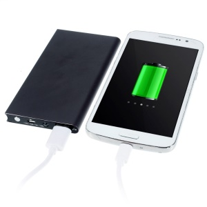 6000mAh Small Book Style Metal Power Bank for iPhone Sony LG HTC Huawei etc - Grey