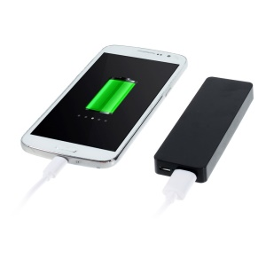 Pocket Size 4000mAh 5V 1A External Battery Power Bank for iPhone Samsung HTC Etc - Black