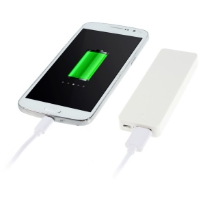 Pocket Size 4000mAh 5V 1A External Battery Power Bank for iPhone Samsung HTC Etc - White