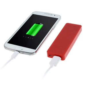 Pocket Size 4000mAh 5V 1A External Battery Power Bank for iPhone Samsung HTC Etc - Red