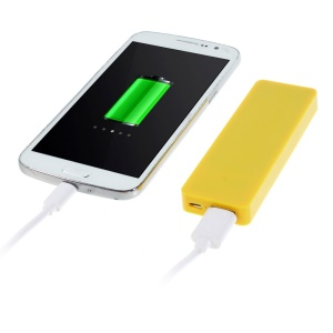 Pocket Size 4000mAh 5V 1A External Battery Power Bank for iPhone Samsung HTC Etc - Yellow