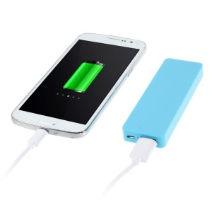 Pocket Size 4000mAh 5V 1A External Battery Power Bank for iPhone Samsung HTC Etc - Blue