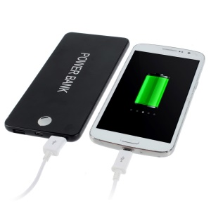 Black 12000mAh Two Outputs Metal Power Bank for iPhone iPad Sony LG HTC Phones & Tablets