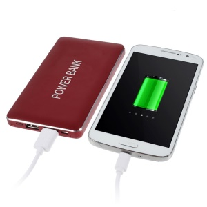 Red 12000mAh Dual Outputs 2.1A Power Bank for iPhone iPad Samsung LG Phones & Tablets