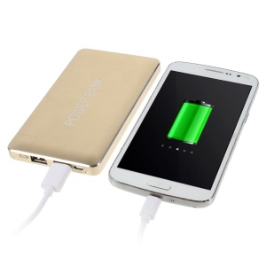 Gold 12000mAh Two Outputs 2.1A Power Bank for iPhone iPad Samsung LG Phones & Tablets