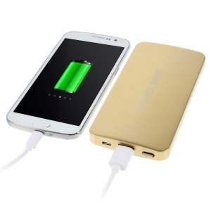 13800mAh 2A Metal Power Bank for iPhone iPad Samsung LG HTC Phones & Tablets - Gold
