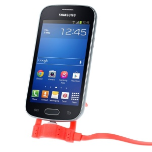 Red 1.2M Micro USB Sync Charge Cable with Holder for Samsung Sony LG HTC Xiaomi etc