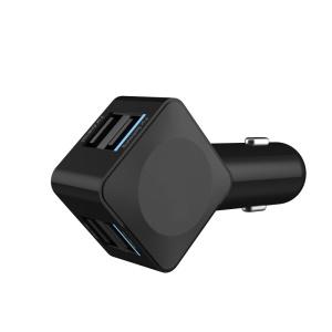 5V 3.5A 4-ports USB Car Charger for Mobile Phone Tablet - Black