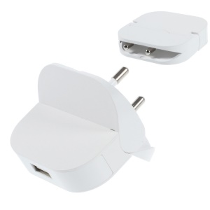 Mini Folding USB Wall Charger Adapter for iPhone / Smartphones / MP3 / MP4 etc - EU Plug