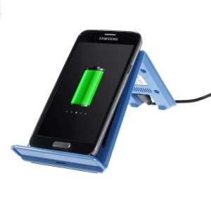 Itian A6 Qi Wireless Charging Transmitter Stander for Samsung N7100 I9300 Nokia 920 LG Nexus 4 - Blue