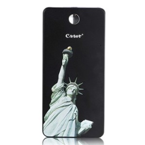 Cager T08 Super Slim 8000mAh External Power Bank for iPhone iPad Samsung HTC, Statue of Liberty Pattern - Black