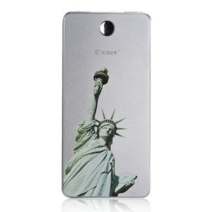 Cager T08 Super Slim 8000mAh External Power Bank for iPhone iPad Samsung HTC, Statue of Liberty Pattern - Silver