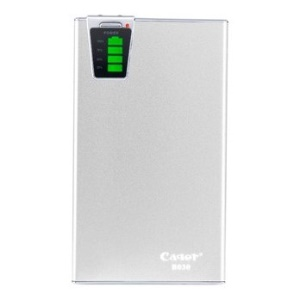 Silver Cager B030 15000mAh Smart Mobile Power Charger w/ Card Reader Function for iPhone iPad Samsung Smartphone Tablet