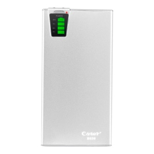 Silver Cager B030 20000mAh Smart Mobile Charger External Battery w/ Card Reader Function for iPhone iPad Samsung HTC