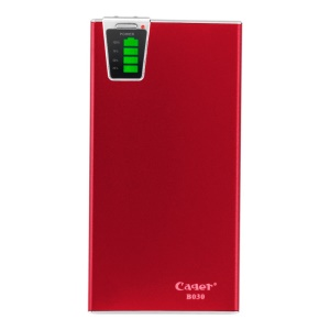 Red Cager B030 20000mAh Smart Mobile Charger External Battery w/ Card Reader Function for iPhone iPad Samsung HTC