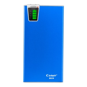 Blue Cager B030 20000mAh Smart Mobile Charger External Battery w/ Card Reader Function for iPhone iPad Samsung HTC