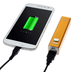 Doca 2600mAh Lipstick Power Bank Mobile Charger for iPhone Samsung HTC LG - Orange