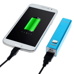 Doca 2600mAh Lipstick Power Bank Mobile Charger for iPhone Samsung HTC LG - Blue