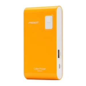 Pisen Color Power Mobile Charger 5600mAh for iPhone iPad mini Samsung HTC - Orange