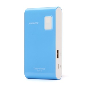 Pisen Color Power Mobile Charger 5600mAh for iPhone iPad mini Samsung HTC - Blue
