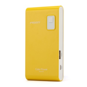 Pisen Color Power Portable Charger 4200mAh for iPhone iPad mini Samsung HTC - Yellow