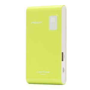 Pisen Color Power Portable Charger 4200mAh for iPhone iPad mini Samsung HTC - Green