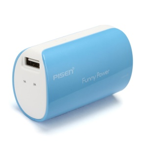 Pisen Funny Power II TS-D127 Power Bank for Smartphones Tablets etc 5000mAh - Blue